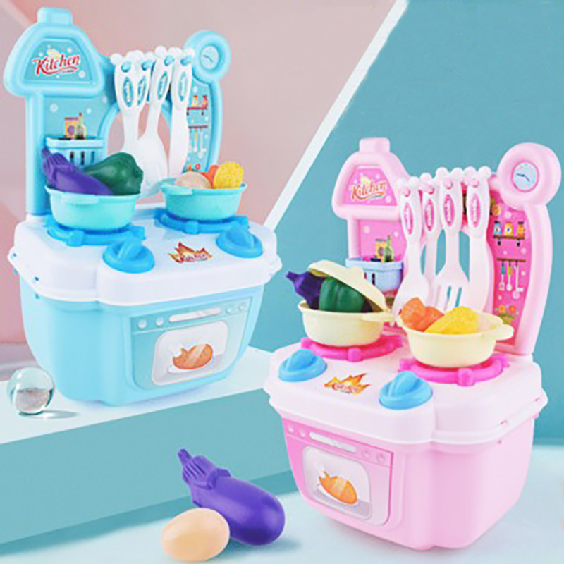 Mini Kids Play House Kitchen Toy Plastic Fruit Vegetable Cutting Pretend Play Early Educational Children Girl Toys Xmas Gift