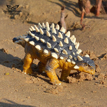 Real Jurassic Park Dinosaur PVC Solid Simulation Model Ankylosaurus Dinosaur Jurassic World Dinosaur Toy For Children недорого