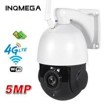 Shiwojia 30x câmera ip ptz 5mp 4g sim cartão wi-fi ao ar livre zoom óptico de segurança sem fio cameraoutdoor waterprrof 60m ir noite