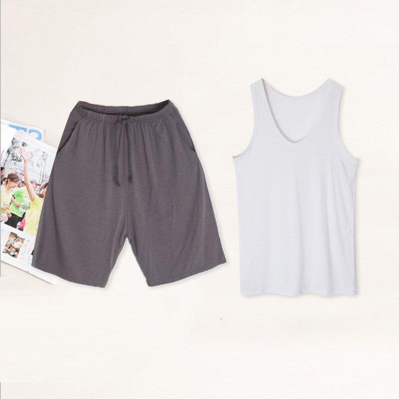 Suit Pajamas Male Sleepwear Lounge Men Summer Modal Belt For Sexy New Intimate Lingerie
