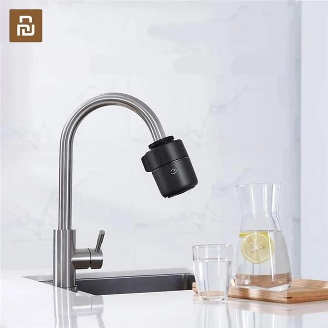 Youpin Yimu שחור אינטליגנטי ניטור ברז מים מטהר מסנן מטבח אמבטיה מסנני בית מטבח