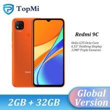 2020 versão global xiaomi redmi 9c 2gb 32gb smartphone helio g35 octa núcleo 6.53