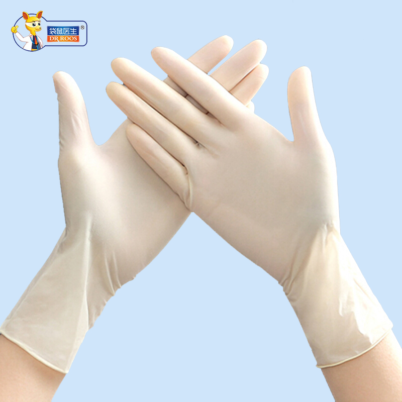 DR.ROOS 2PCS/Pair 10Pairs Rough-finish Gloves Food Processing  Gardening Gloves Disposable Medical Rubber Examination Gloves