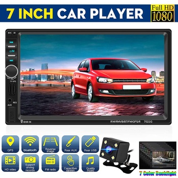 7 2 din Android Automobile Car Multimedia MP5 Player Central Autoradio Stereo Radio FM GPS bluetooth Rear View Camera Parking image