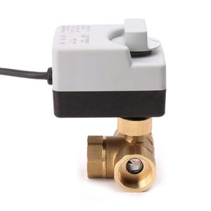 Image 5 - AC220V 3 Weg Elektrische Motorkogelklep Drie Draad Twee Controle Voor Airconditioning