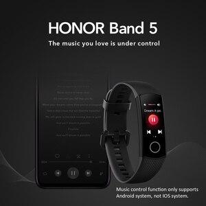 Image 4 - Honor מקורי להקת 5 חכם צמיד הגלובלי גרסה דם חמצן smartwatch AMOLED כושר צמידי לב קצב שינה tracker