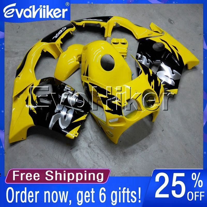 Custom motorcycle <font><b>fairing</b></font> for <font><b>CBR250RR</b></font> MC19 1988-1989 Injection mold motorcycle bodywork <font><b>kit</b></font> yellow+gifts image