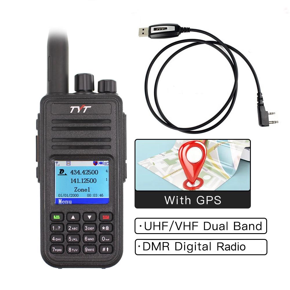TYT MD-UV380 Walkie Talkie Dual Band Radio MD-380 VHF UHF MD380 Digital DMR Two Way Radio Dual Time Dlot Transceiver