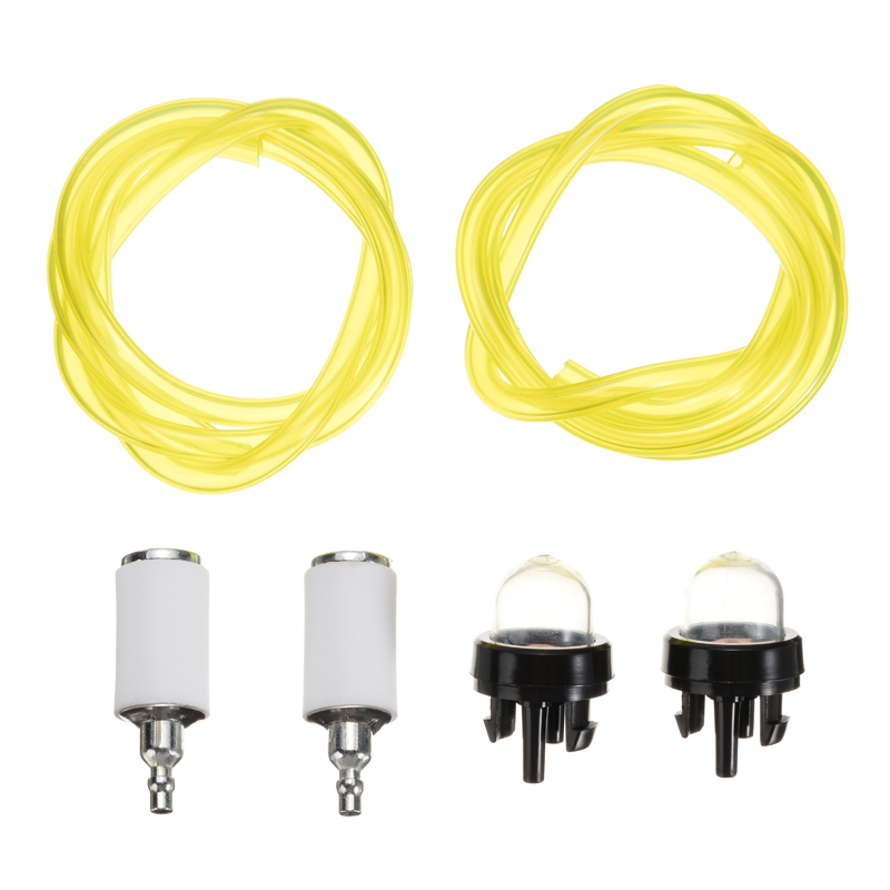 2 Plastic Fuel Lines Filter Pipe Snap Hose & Primer Bulb Kit Multi Garden  Tools Accessory Supply For Chainsaw