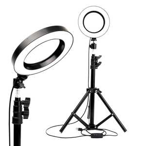Lighting Tripod-Ring-Light Video-Lamp Three-Speed Selfie Youtube LED with Dimmable Stepless