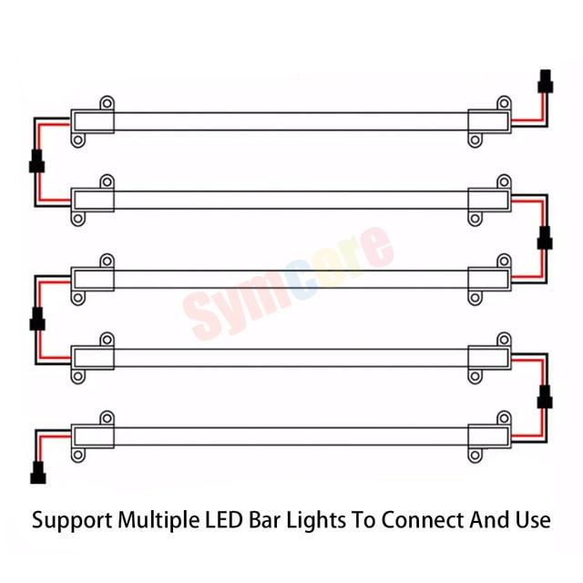 5 pièces barre de LED lumière AC220V 10cm 50cm LED bande blanc LED bande rigide dure coquille claire coquille blanche laiteuse cuisine sous armoire