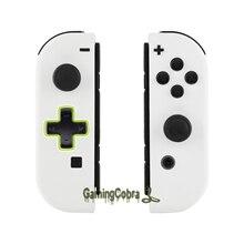 EXtremeRate Cảm Ứng Mềm Mại Trắng Bộ Điều Khiển Nhà Ở (D Miếng Lót Phiên Bản) Với Đầy Đủ Bộ Nút Bấm Dành Cho Máy Nintendo Switch JoyCon