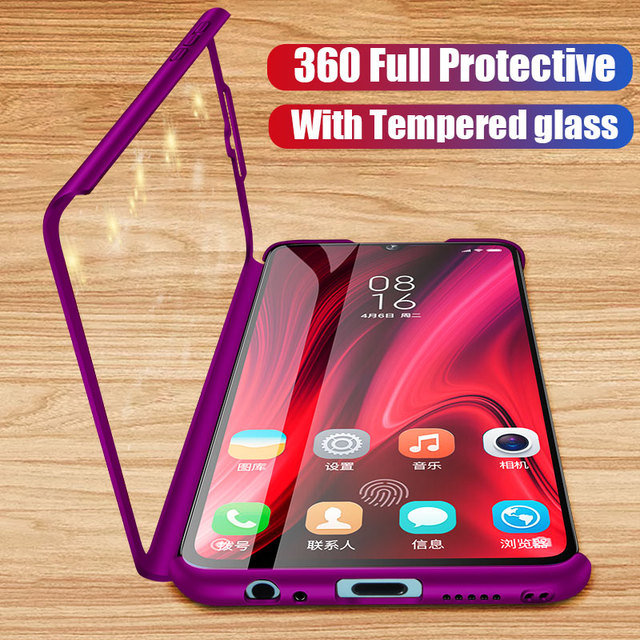 360 Full Protective Phone Case For Xiaomi Redmi Note 7 6 5 K20 Pro 5A 7A S2 Go Case For Xiaomi Mi 9T 9 8 SE A2 Lite Max 2 3 Case