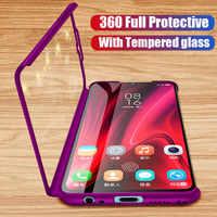 360 de la caja del teléfono protector para Xiaomi rojo mi nota 7 6 5 K20 Pro 5A 7A S2 caso para Xiaomi mi 9T 9 8 SE A2 Lite Max 2 3