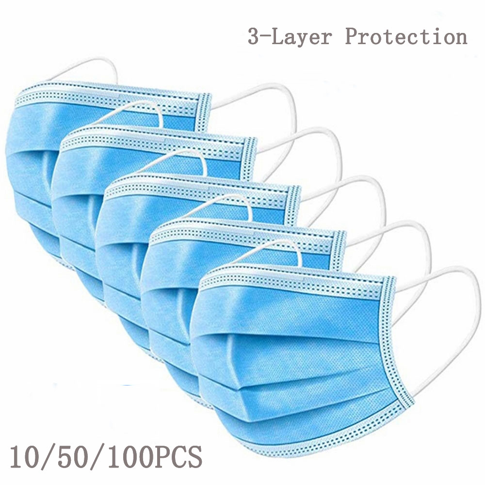 Protective Masque 3 Layer Non-woven Face Mask Thickened Disposable Mouth Caps Dust Filter Safety Mask Mascarillas Mascherine