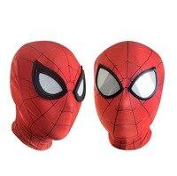 3D örümcek adam mezuniyet maskeleri Avengers Infinity savaş demir örümcek adam Cosplay kostümleri cilt maske süper kahraman lensler