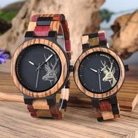Reloj Mujer BOBO BIRD drewniany zegarek dla pary mężczyźni kobiety Valentine urodziny rocznica niestandardowy zegarek specjalny prezent dropshipping