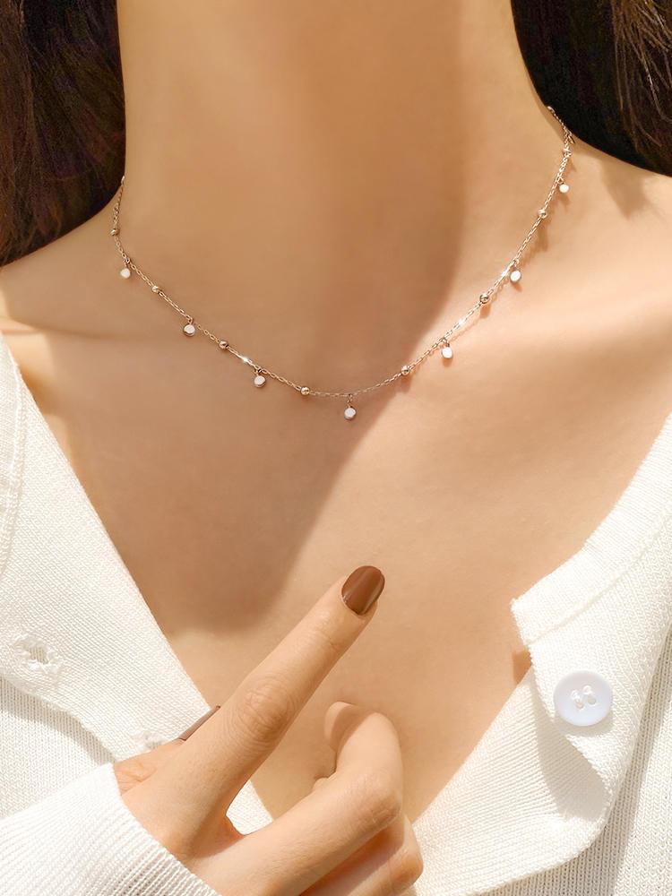 Настоящее серебро 925 пробы, геометрический круглый чокер, ожерелье для женщин, минималистичные ювелирные изделия, милые аксессуары, подарок