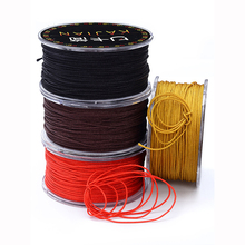MOQ=1PC Thin Cords 0.8mm DIY Jewelry Componen Rope String/Thread non-fading Polyeste Knot Macrame Craft Tassel Jewelry Making