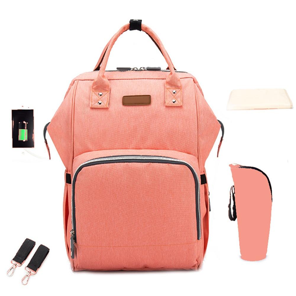 Multi Pocket Portable Zipper Fashion Diaper Bag Nappy Mummy Large Capacity Waterproof Baby Care Solid Nursing Lightweight