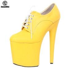 נשים מועדוני לילה סופר גבוהה 20CM ספייק עקבים פלטפורמת פגיון נעלי שרוכים מינית פטיש ריקוד מסיבת משאבות יותר צבעים
