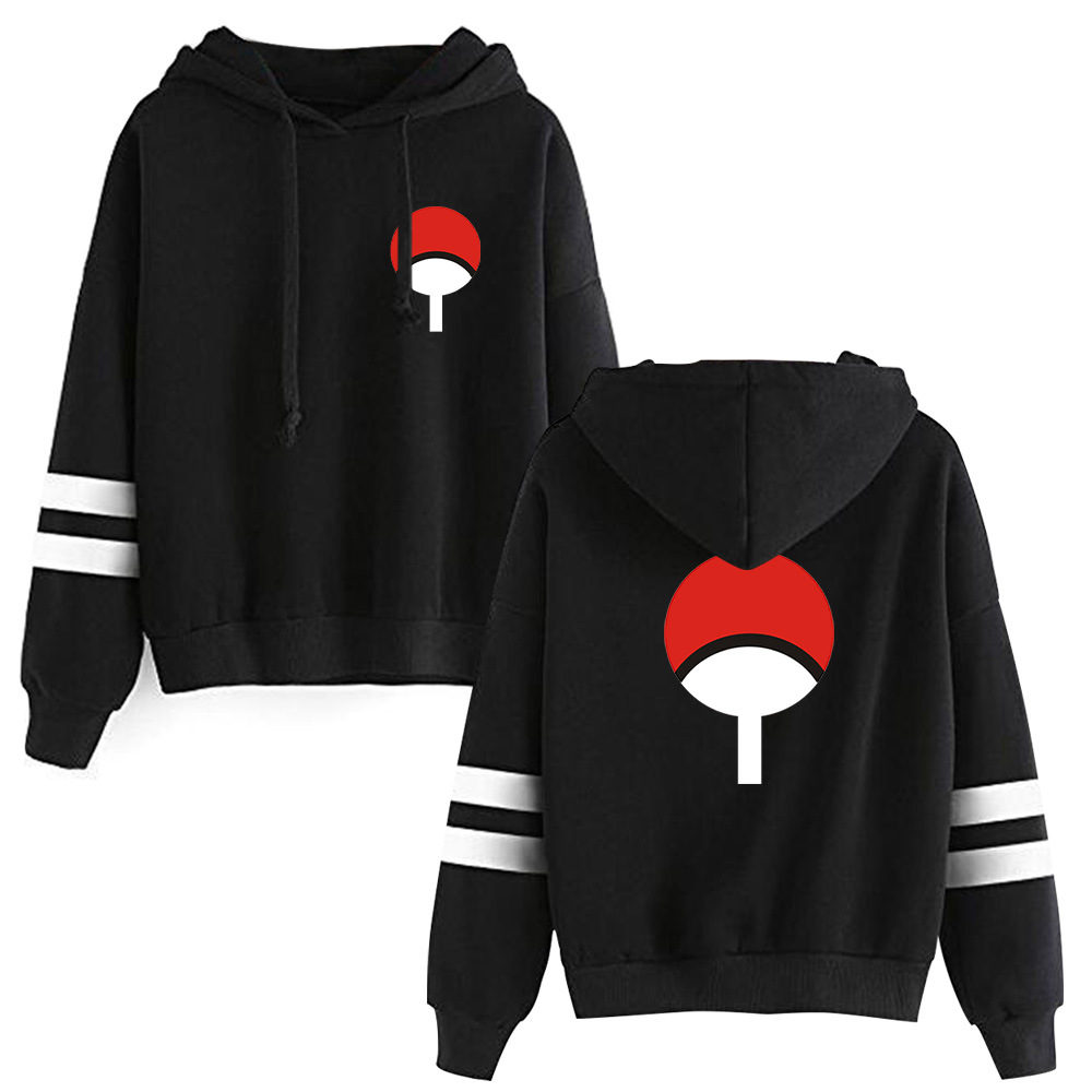 Spring Summer Anime Naruto Hoodies Men Women Cool Uchiha Hatake Uzumaki Clan Badge Streetwear Sudaderas Hoodie Sweatshirt