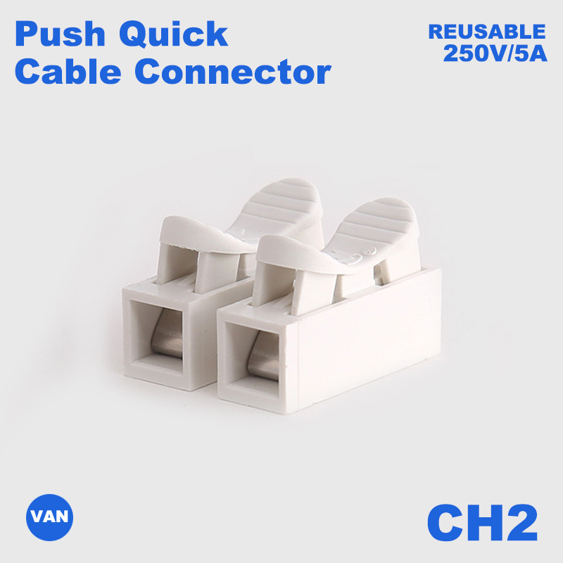 CH2/CH3 220V 10A High Pressure Resistant Push Quick Wire Cable Connector White Wiring Terminal