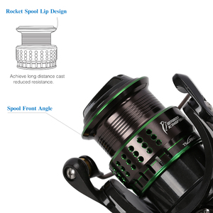 Image 4 - TSURINOYA Spinning Fishing Reel Kingfisher Double Spools Trout Reel 800 1000 1500 Extra Spool Ultralight Micro Bait Lure Reel