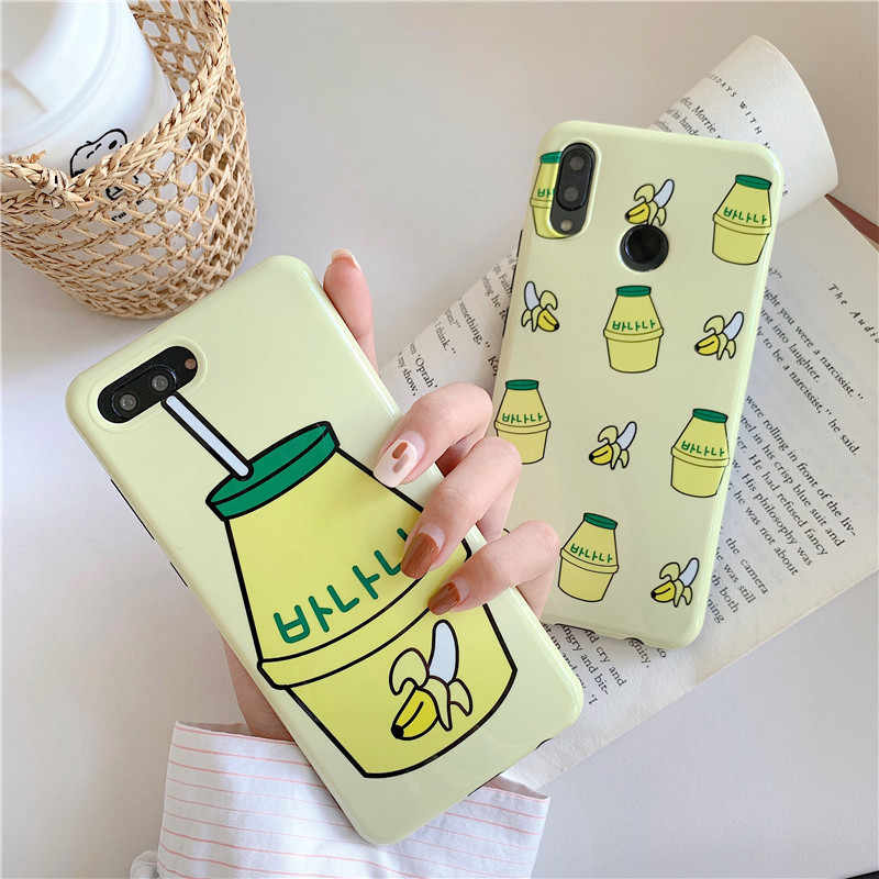 Meachy Korean Cute Banana Milk Bottle Phone Case For Huawei P20 P30 Mate 20 Pro Honor 20 10 20pro Nova 5 Pro 3 3i 4 Cover Case Fitted Cases Aliexpress