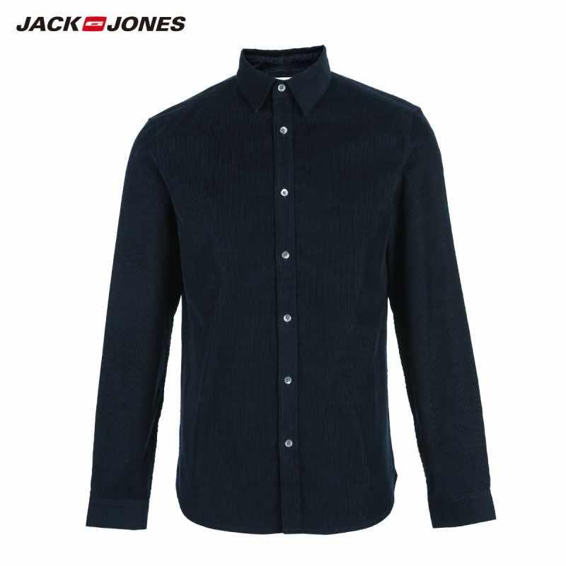 JackJones męska koszula z długimi rękawami 100% bawełny | 219105502