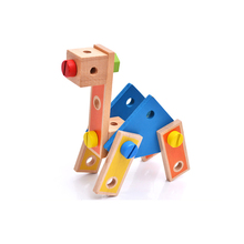 Removable Montessori Screw Nuts Puzzles Toy Child Wooden Nuts Combination Multifunctional Assembly Screw Building Blocks Toy Se