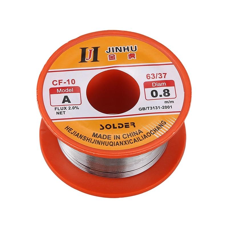 Tin Lead Solder Core Flux Soldering Welding Solder Wire Spool Reel 0.8mm 63/37