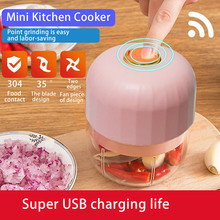 Portable Mini Electric Garlic Masher Garlic Cooking Machine Garlic Durable Meat Crusher