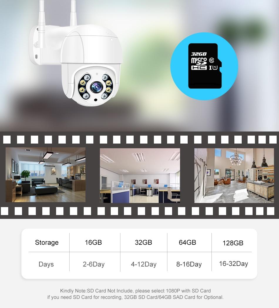 Smar 1080P Outdoor PTZ Wireless IP Camera 4X Digital Zoom Speed Dome Mini WiFi Security CCTV Audio Camera Auto tracking of Human (11)