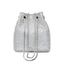 Small Women Bag Female Summer 2019 Korean Sequin Shoulder Bucket Chain Messenger Wild PU Leather Fashion