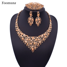 2019 Dubai classic fashion Crystal Jewelry Sets ethiopian Bridal Wedding  jewellery sets African elegant jewelry sets for Women недорого