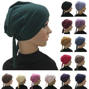 Full Cover Inner Muslim Cotton Hijab Cap Islamic Head Wear Hat Underscarf Bone Bonnet Turkish Scarves Muslim Headcover