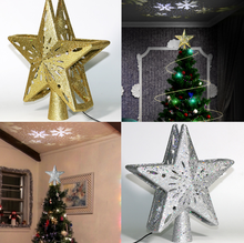Christmas LED Tree Topper Decor Light Christmas Tree Top Five-pointed Star Flashing Color Light Post For Party Halloween LF780 festive products led lantern flashing light ice fence light snow decorative light christmas lights christmas tree pendant