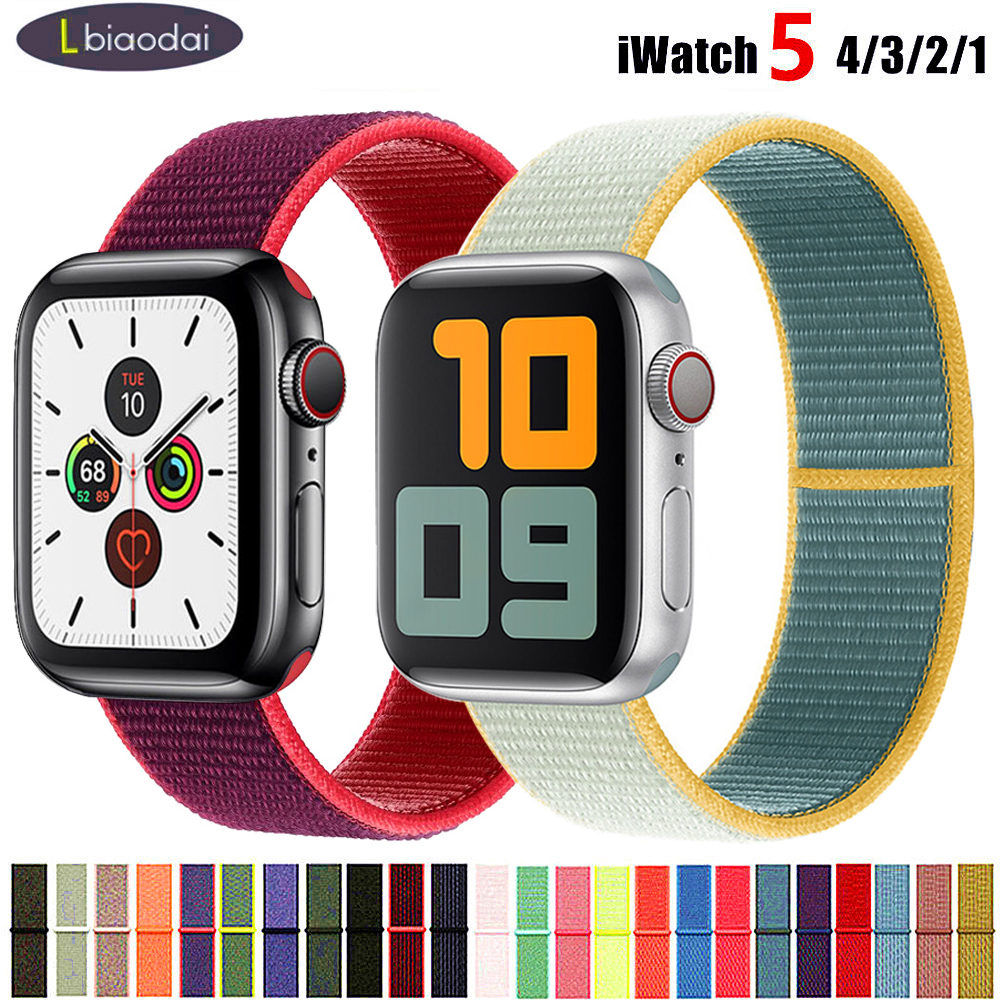 Strap For Apple Watch Band 38mm 42mm IWatch 5 Band 44mm 40mm Nylon Watchband Sport Loop Bracelet Apple Watch 5 4 3 2 38 42 44 Mm