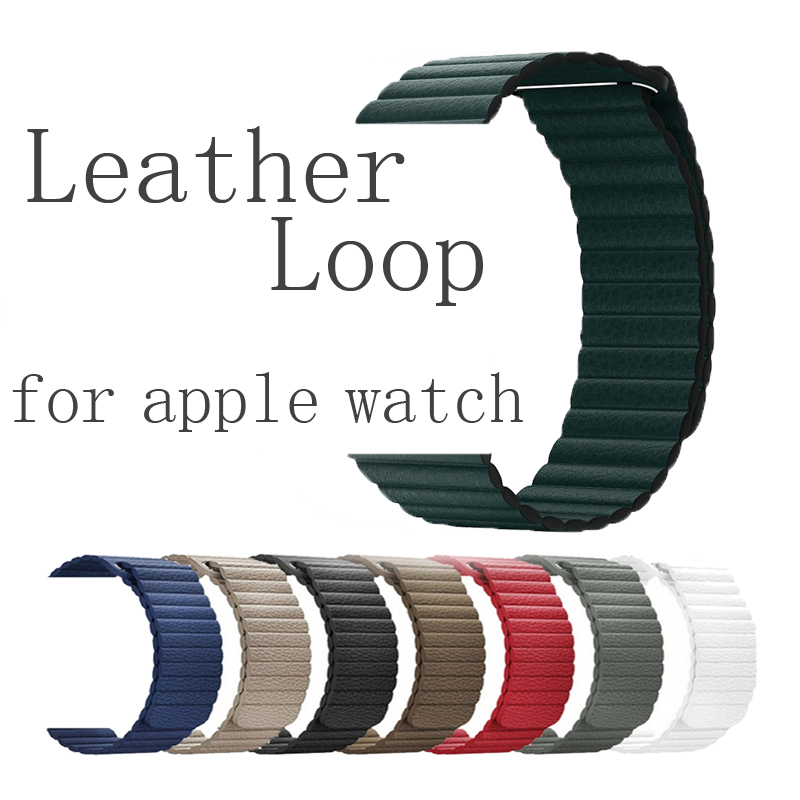 Leather Loop strap For apple watch 5 apple watch 4 40mm 44mm correa iWatch band 42mm 38mm bracelet wrist watch Accessories