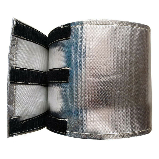Universal Starter Heat Shield 18 x 60cm Wrap Self Attaching Metallic Heat Shield Insulated Wire Hose Cover Wrap Loom Tube