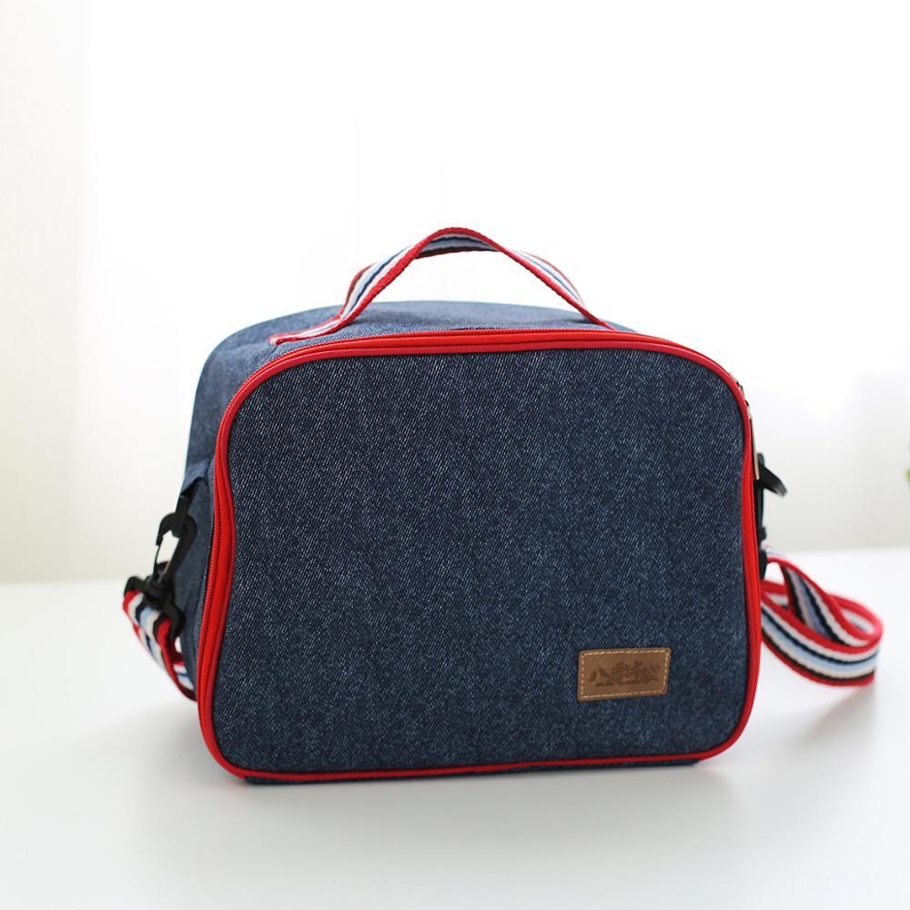 Bolsa de Gelo de Mão Bolsa de Piquenique Alça de Ombro Bento Isolado Bolsa Engrossado Lancheira
