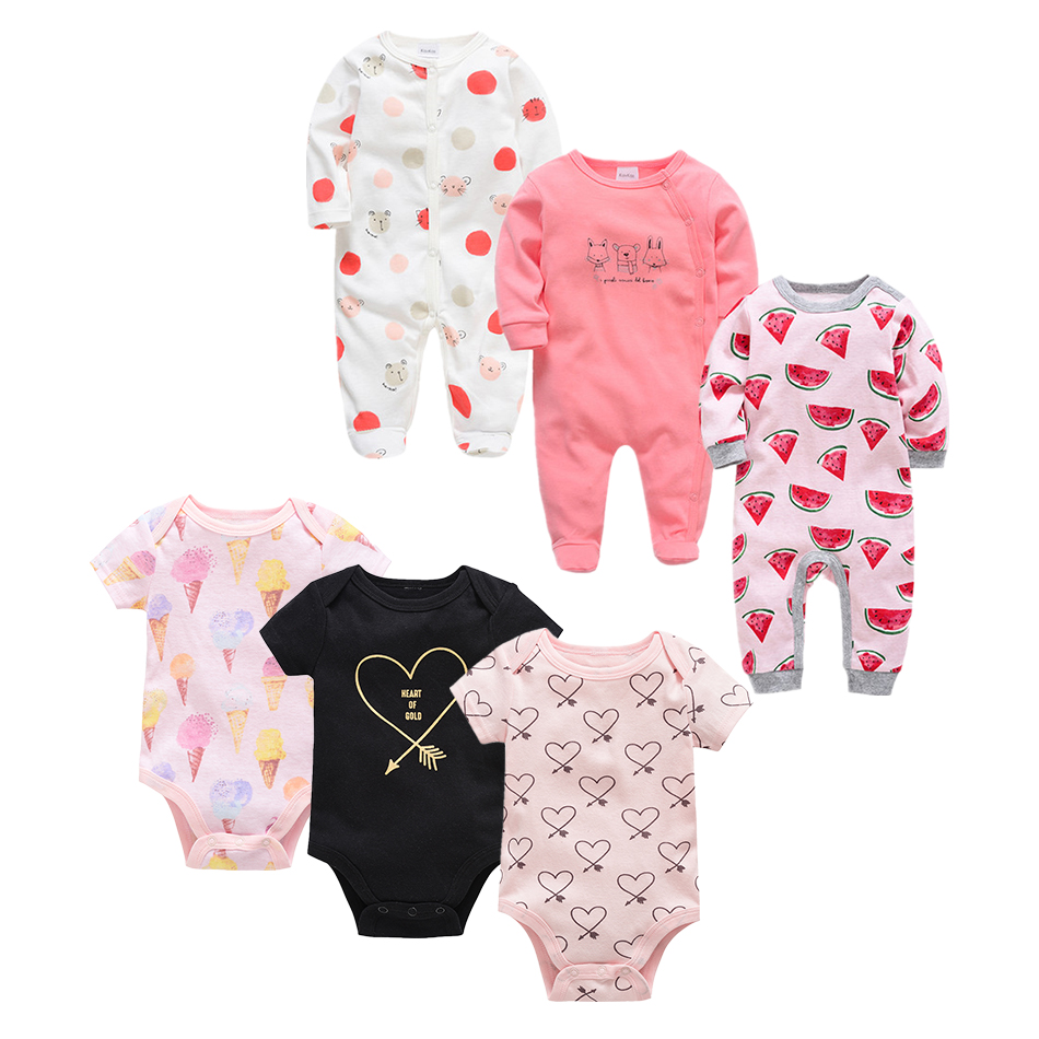 6 PCS/LOT Newborn Baby Clothing 2019 New Fashion Baby Boys Girls Clothes 100% Cotton Baby Bodysuit Long Sleeve Infant Jumpsuit