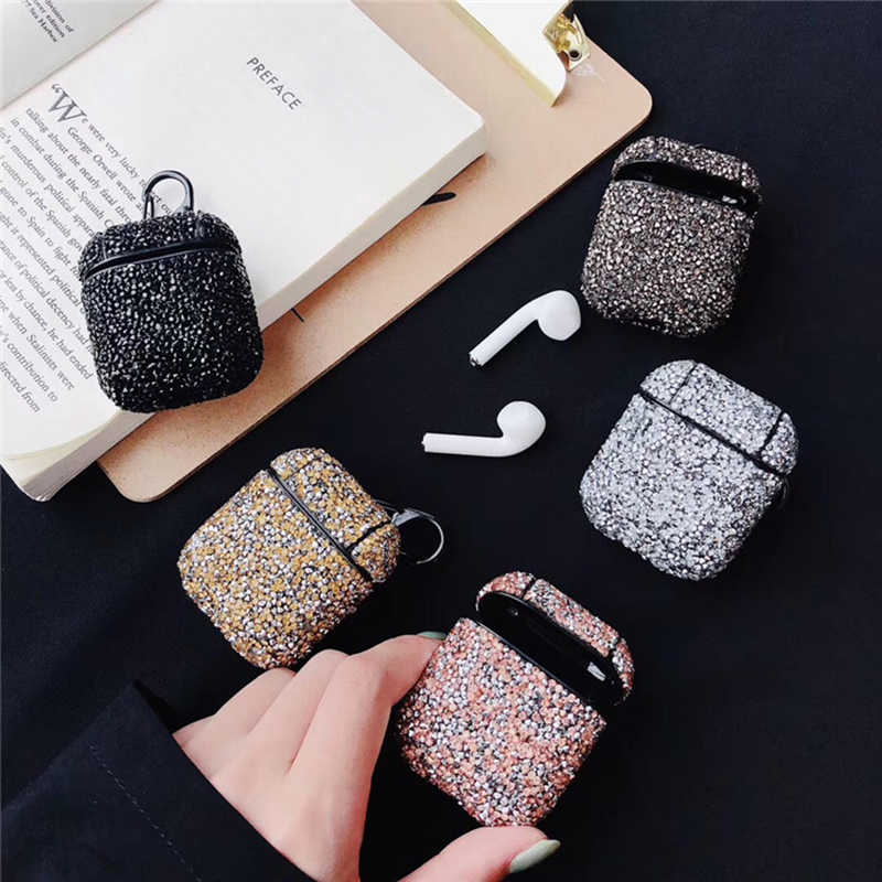 Creative Cute Sexy Glitter Sequins Bling Hard Wireless Earphone Cover For Airpods Pro Shockproof Chrage Case Anti-fall Box