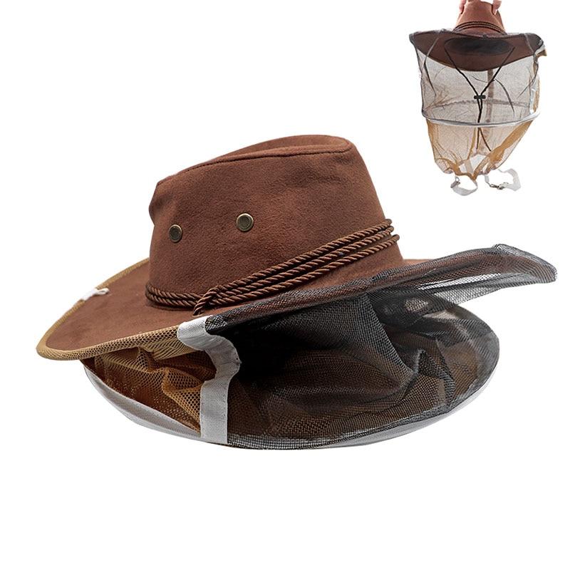 Beekeeper Protective Hat Anti Bee Fabric Nylon Net Yarn Hat Beekeeping Protector Cap Beekeeper Cowboy Comfortable Design