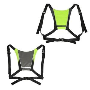 Image 5 - サイクリングled信号vest自転車安全ワイヤレスターン信号光を実行している照明ベスト安全反射警告ベスト