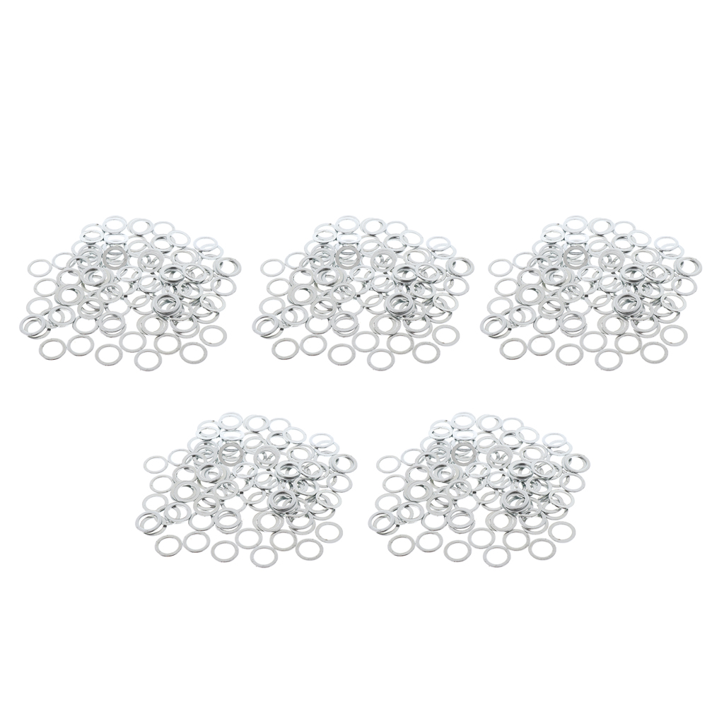 500pcs Replacement Speed Washers Standard Hardware Skateboard Bearing Spacers Silver 11mm