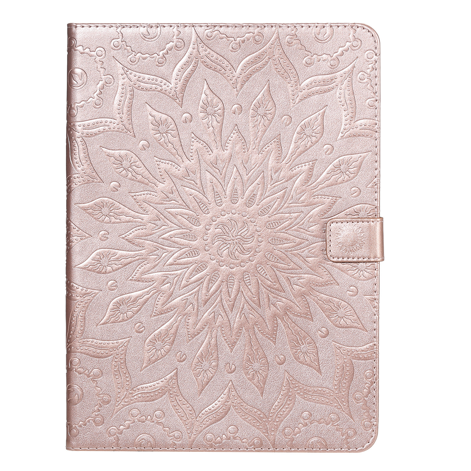 3 Green Flower 3D Embossed Cover for iPad Pro 12 9 Case 2020 Leather Protective Shell Skin for