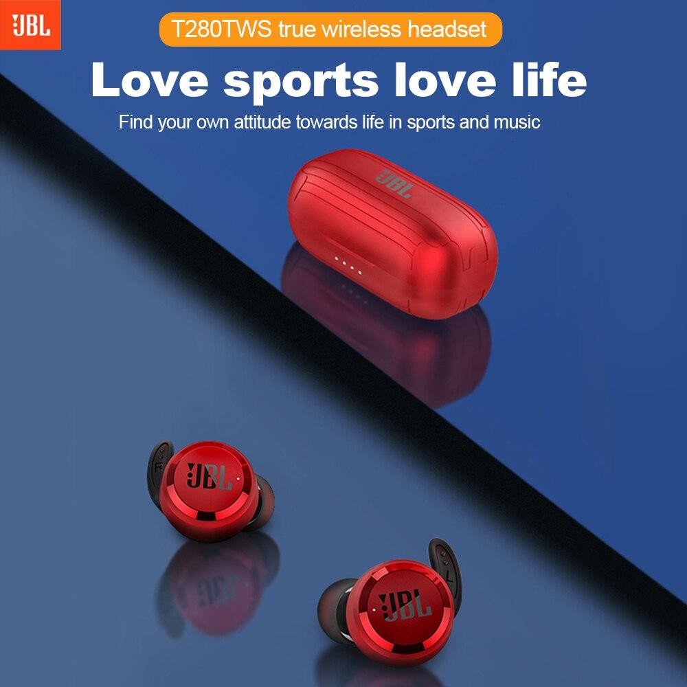 Dropshopping JBL T280 TWS Bluetooth écouteurs sans fil avec étui de charge Sport en cours d'exécution écouteurs IPX5 casque étanche avec micro