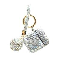 Custodie per auricolari Wireless per Apple Airpods 2 Diamond Cover accessori per auricolari Bluetooth protezione per scatola di ricarica con portachiavi